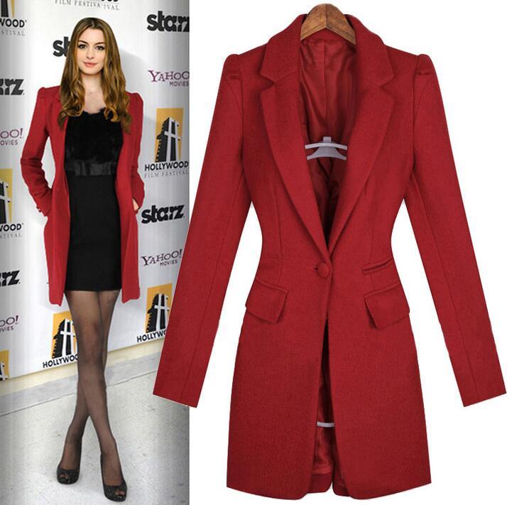 Abrigo lana rojo mujer
