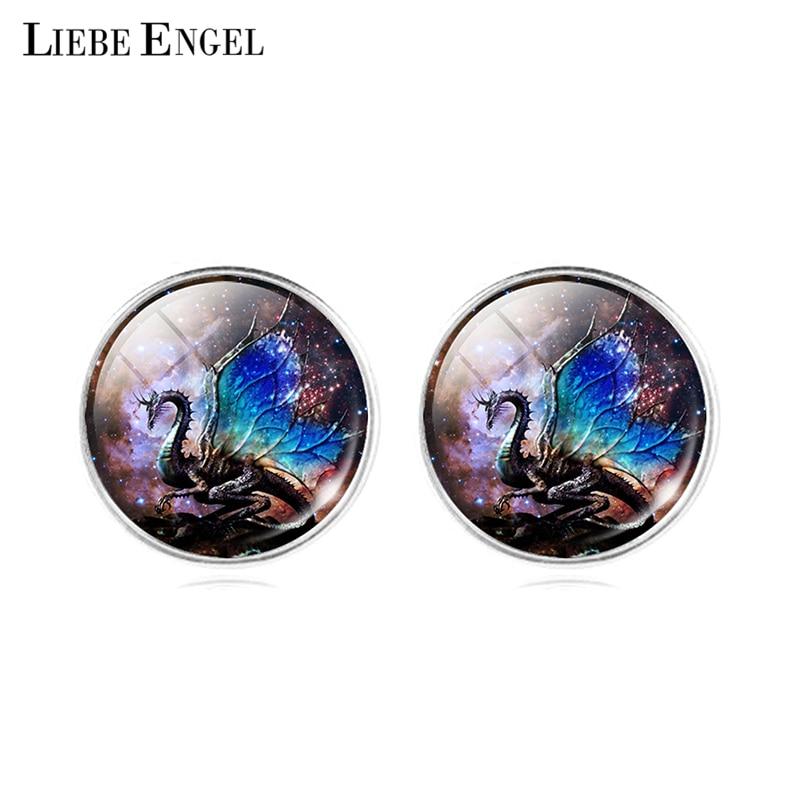 ⊰LIEBE ENGEL Nouveau Verre Bijoux Boucles D oreilles Coloré dragon ... ebba6b57def
