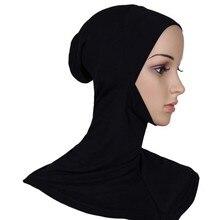 2018 Full Cover Inner Women Muslim Cotton Hijab Islamic Head Wear Hat Underscarf Shawls And hijab caps foulard femme