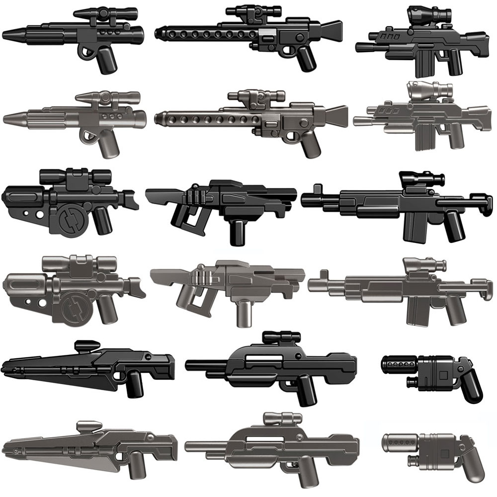 Guns Trek Halo Star Wars Science Fiction Future Weapons Pack for MOC Part Building Blocks Toys for Children-in Blocks from Toys & Hobbies