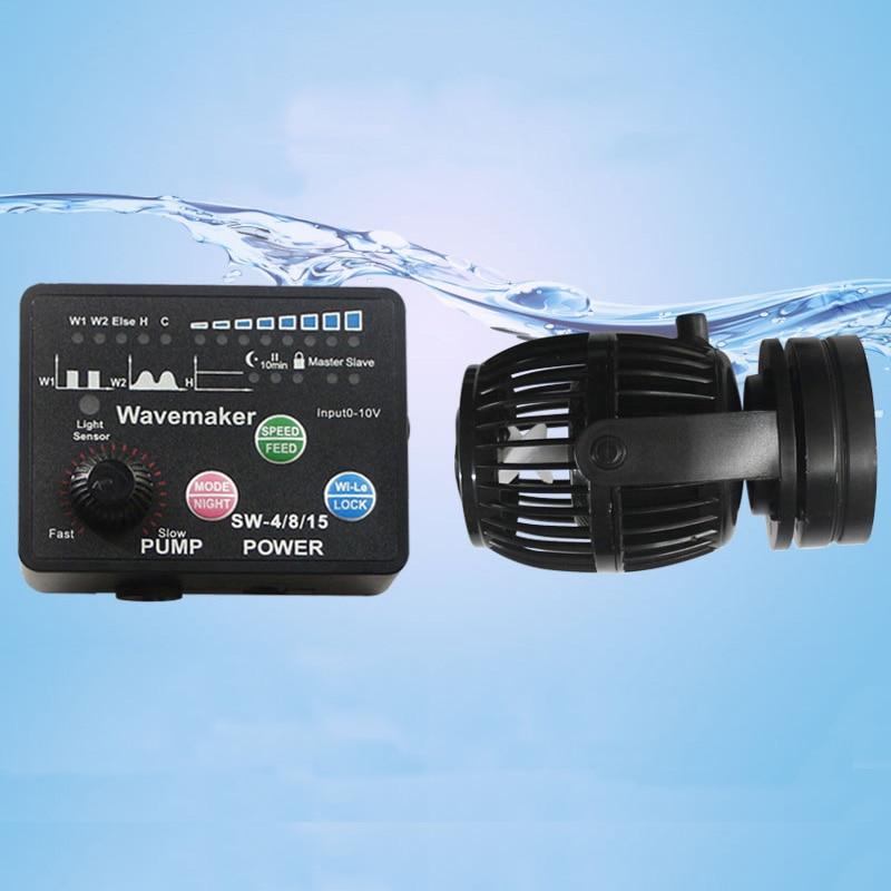 Jebao для морских кораллов рифовый аквариум SW-2 SW-4 SW-8 SW-15 RW-4 RW-8 RW-15 RW-20 серии Рыбы Устройство для образования волн в искусственном водоеме водяно...