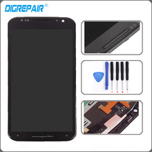 Black For Motorola Moto X2 Xt1092 Xt1095 Xt1097 LCD Display Touch Screen with Digitizer Bezel Frame Assembly Replacement + Tools