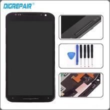Noir Pour Motorola Moto X2 Xt1092 Xt1095 Xt1097 Écran lcd Écran Tactile avec Digitizer Lunette Cadre Assemblée Remplacement + Outils