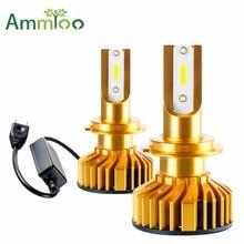 AmmToo Canbus H7 Led Car Fog Light 9005 HB3 H11 DOB Led Bulbs H8 H9 H10 9006 HB4 Daytime Running Lights 72W Auto Fog Lamp 6500K