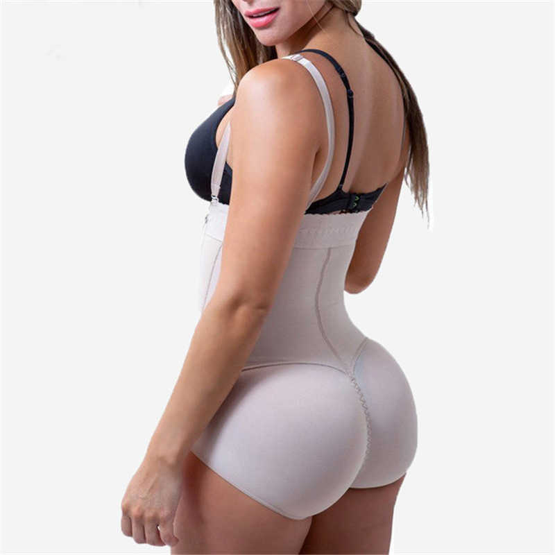 765998e397b ... Plus Size Latex Women s Body Shaper Slimming Underwear Post Liposuction  Girdle Clip Bodysuit Waist Shaper Reductoras ...