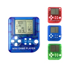 Hot Mini Classical Game Tetris Electronic Cyber Machine Education Toys For Kids Keychain Gifts color random