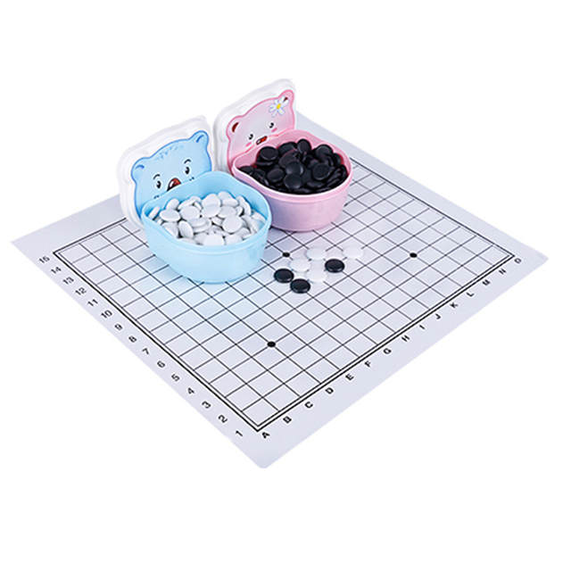 BSTFAMLY Children Go Chess 13 Road 160 Pcs/Set Chinese Old Game of Go Weiqi  International Checkers Folding Table Toy Gifts LB14