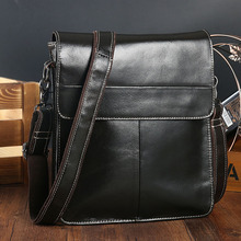 купить Men's Briefcase Office Bags Real Leather Bag Men Portfolio Thin Messenger Bag Pasta De Couros Masculina Black Bolso Hombre Male по цене 3076.17 рублей