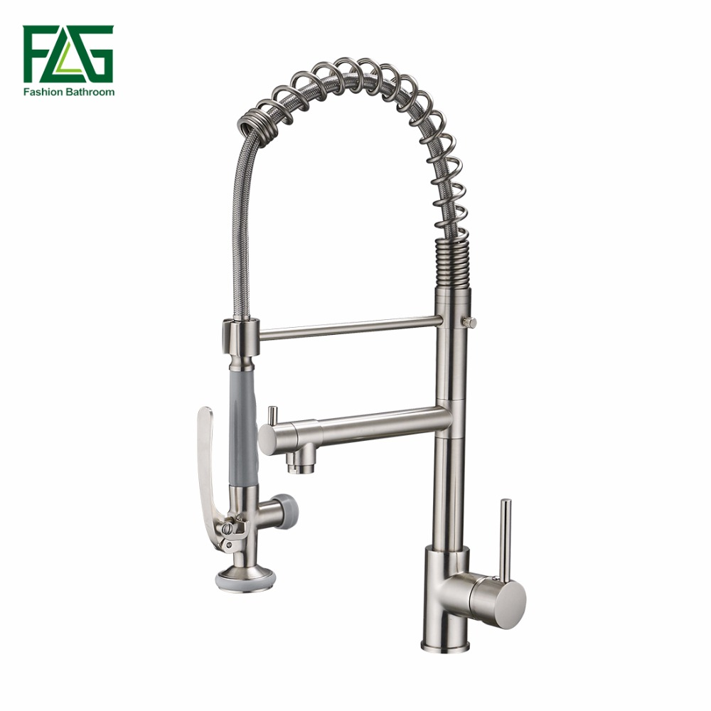 Kitchen Faucet Brushed Nickel Faucet 360 Degree Rotating Kitchen Tap ...