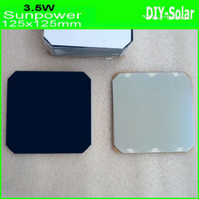 """Sunpower Solar Cell 5×5"""" max 3.5W/pc high-efficiency 125mm Monocrystalline solar cells 10pcs/lot -100% A Grade and Enough-power"""