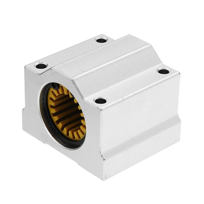 12Pcs SBR16UU16mm Aluminum Open Linear Motion Bearing Slide Unit for Linear Rail