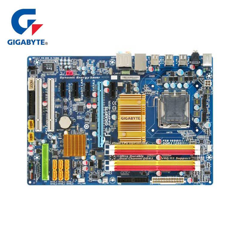 تستخدم جيجا بايت GA-EP43-US3L اللوحة الأم الأصلي LGA 775 DDR2 كمبيوتر مكتبي اللوحة الرئيسية 16GB EP43-US3L EP43 US3L لوحات P43 المستخدمة