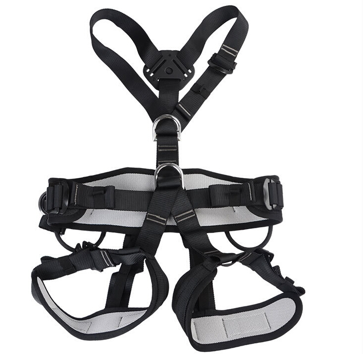 Outdoor climbing safety belts full body safety equipment harness safety solid belt 800KG Available for adults life belt GM1417 25kn professional carabiner d shape safety master lock outdoor rock climbing buckle equipment