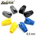 Xintylink rj45 tapas cat6a cat7 botas de conector de cable ethernet de red funda manga protectora tpu bush 8,5mm 10 piezas 50 piezas 100 piezas