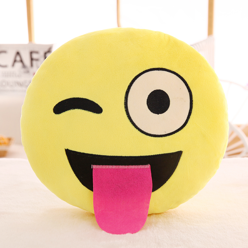Top quality fashional 35cm 55cmQQ expression pillow ultra-sprouting gift Korean emoji doll smiling faces childrens doll cushion