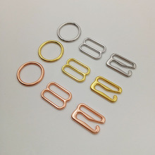 Free shipping 100 pcs/lot Silver/Gold/Rose Gold bra o-rings sliders hooks lingerie adjuster underwear accessories