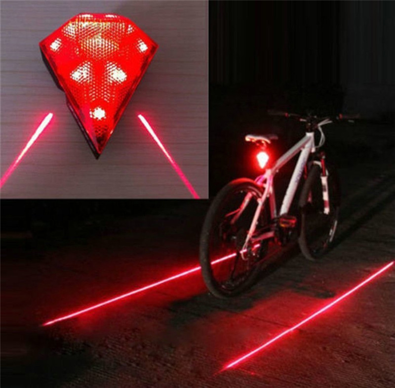 Rechargeable Bike Rear Light Cycling Safety Zone Lamps Bicycle LED Diamond Bright Taillights Security Warning Lights LT0035 10pcs x red blue zone forklift danger zone warning light 10 80v 18w red safety zone warning led work lamp