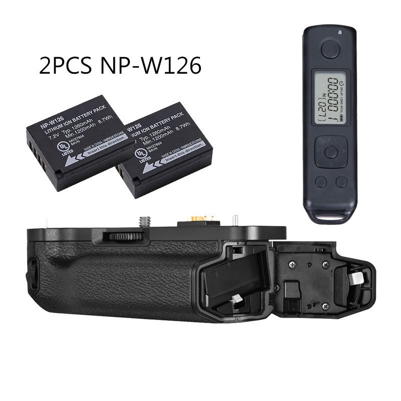 MEIKE MK-XT1 Pro 2.4g Wireless Control Battery Grip for Fujifilm X-T1 as VG-XT1 +2* NP-W126 batteries meike mk xt1 battery grip for fujifilm x t1 as vg xt1