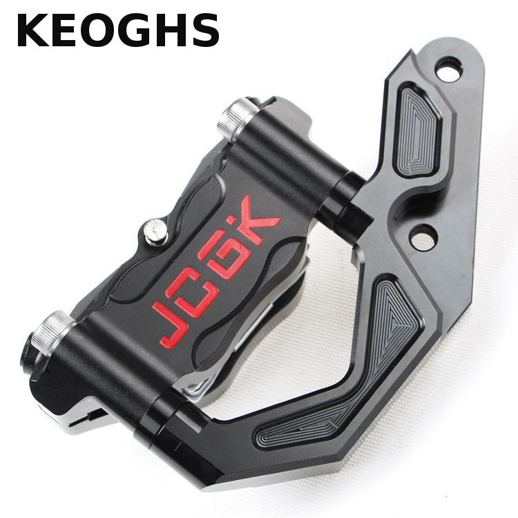 KEOGHS Motorcycle Brake Caliper With Cnc Adapter Bracket For Yamaha Cygnus-x For Original Front Shock 245mm 260mm Brake Disc keoghs motorcycle hydraulic brake system 4 piston 100mm hf2 brake caliper 260mm brake disc for yamaha scooter cygnus x modify
