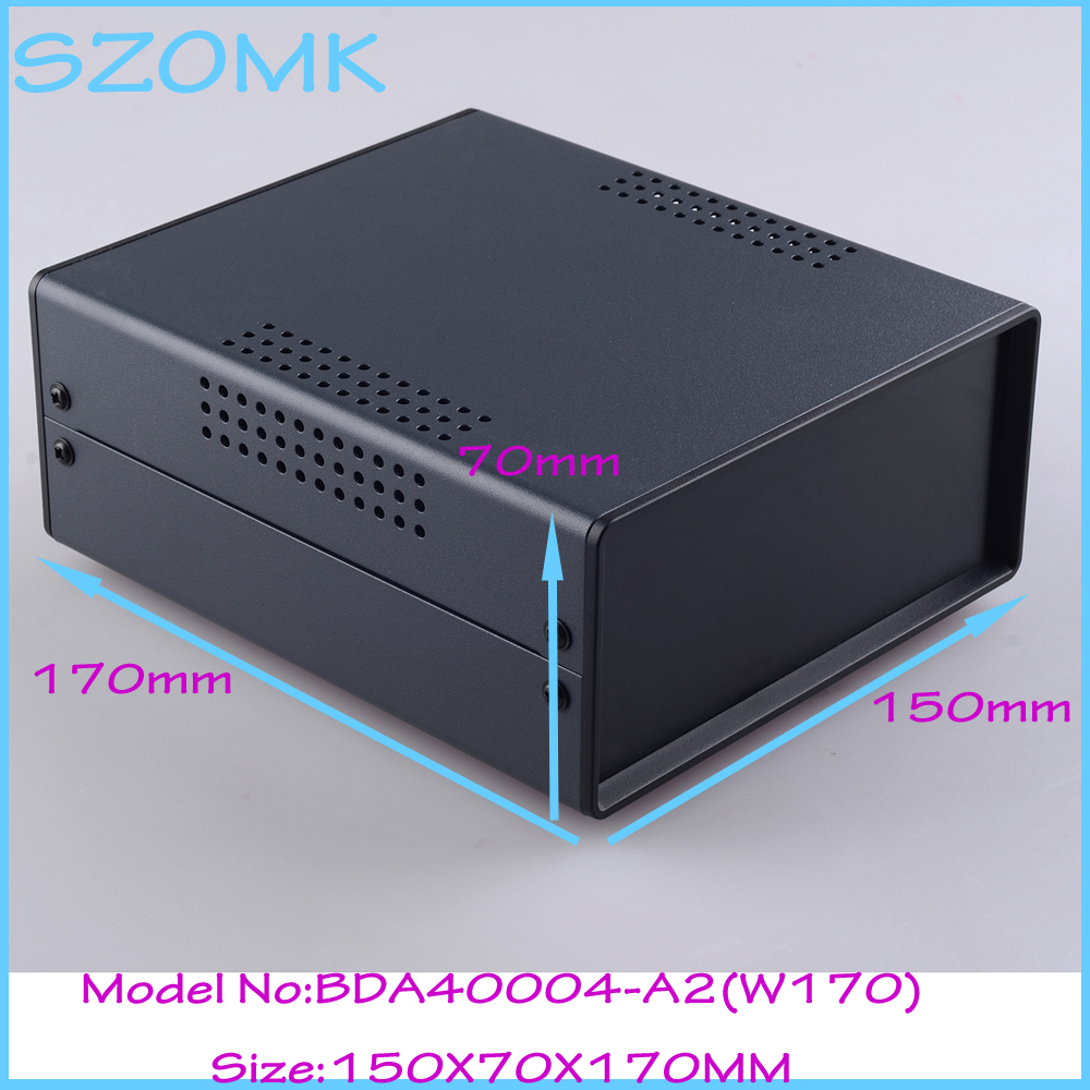 (1 )150x70x170 mm iron distribution electronics box for pcb outlet steel instrument case housing for electronics electronics enclosure for pcb or circult board 1 pcs 108 152 54mm cabinet electronics case housing instrument control box