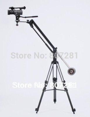 Mini flèche de flèche de grue de caméra vidéo avec tête panoramique et trépied