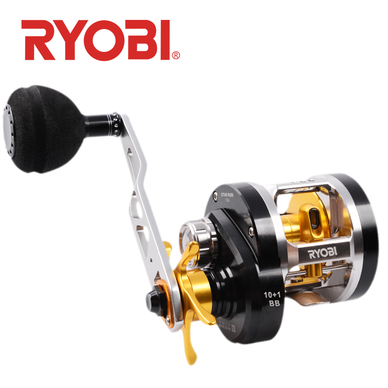 RYOBI VARIUS GA C3030 Fishing reel Fishing Wheel Bait casting reel 6.8:1 Gear Ratio 11BB Full Metal Ocean Boat Fishing wheels