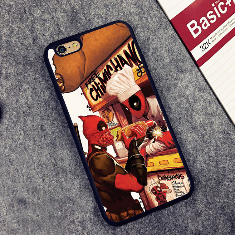 Marvel deed pool Deadpool Soft Silicone Protective case Cover For iPhone X 8 7 7Plus 6 6S Plus 5 5S SE