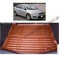 Envío gratis segunda generación de fibra de cuero guarnecido del maletero del coche para ford focus Ford Focus Mk 2 2004-2011 sedan y hatchback