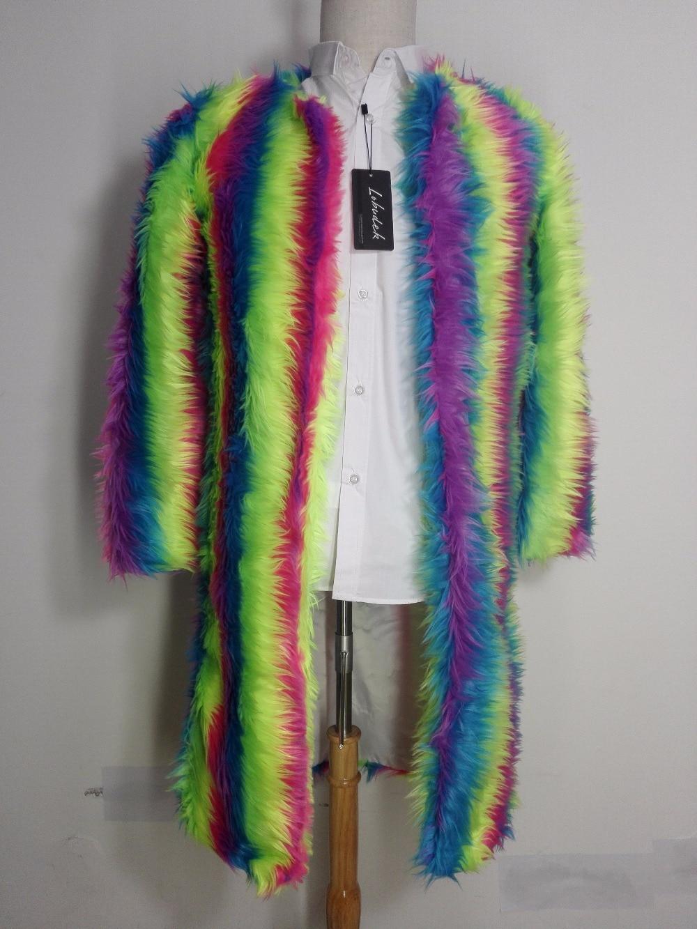 Chanteur cropped Jacket Jacket En Mâle Manteau De Danseur Costumes Costume Performance Show Étoiles vent Fourrure Long Arc Peluche Usure Mince D'hiver Veste Coupe Discothèque 1crUq1ywBA