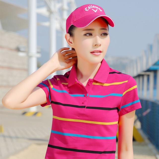 Ladies Striped Poloshirt...