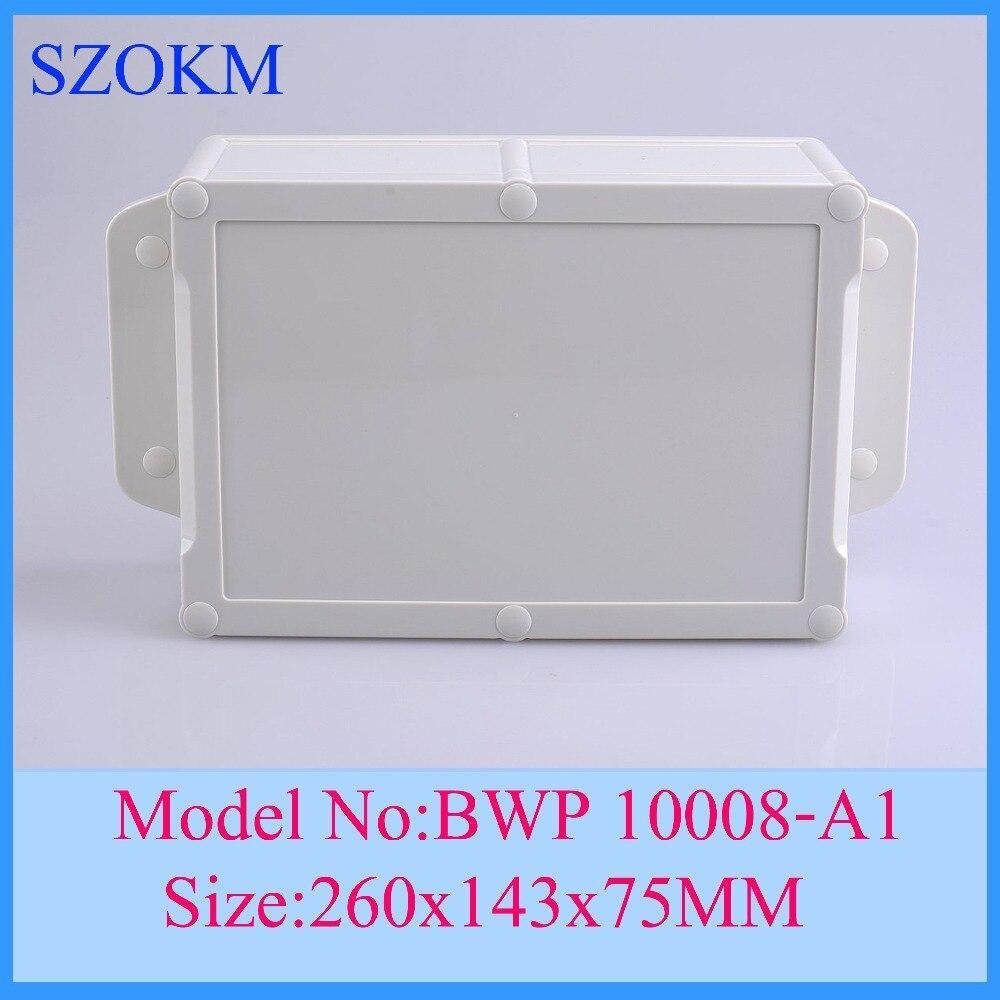 1 piece IP 68 waterproof enclosure abs plastic electronics enclosures good quality abs new material enclosures box 260x143x75mm
