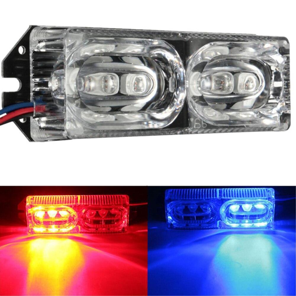 12V LED new Motorcycle Warning light Brake light Tail light Stop Strobe Flash Emergency Light Red/Blue