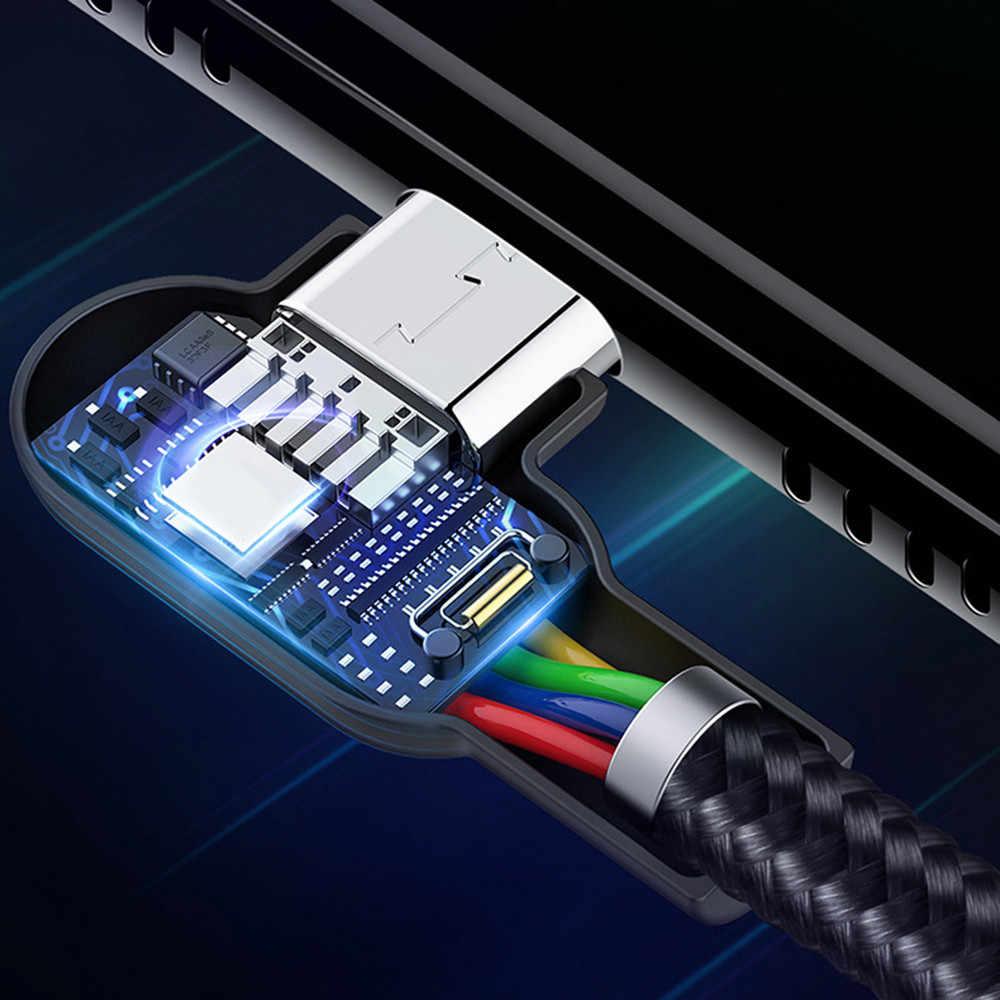 Светодиодный кабель Micro USB для быстрой зарядки данных кабель USB для зарядки Microusb для Android samsung Xiaomi зарядное устройство для мобильного телефона
