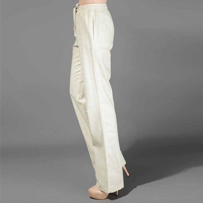 Popular White Linen Pants Drawstring-Buy Cheap White Linen Pants ...