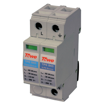 TOWE AP B65 1P+N Single-phase overvoltage protector,1+1 protect mode with NPE overvoltage protector towe ap c40 3p three phase overvoltage protector applicable in tn c it elevator control cabinet overvoltage protector
