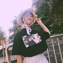NiceMix Kawaii T Shirt Summer Women Tops 2019 Harajuku T-shirts Print Sailor Moon cartoon Loose Short Sleeve Casual Femme Tee Sh