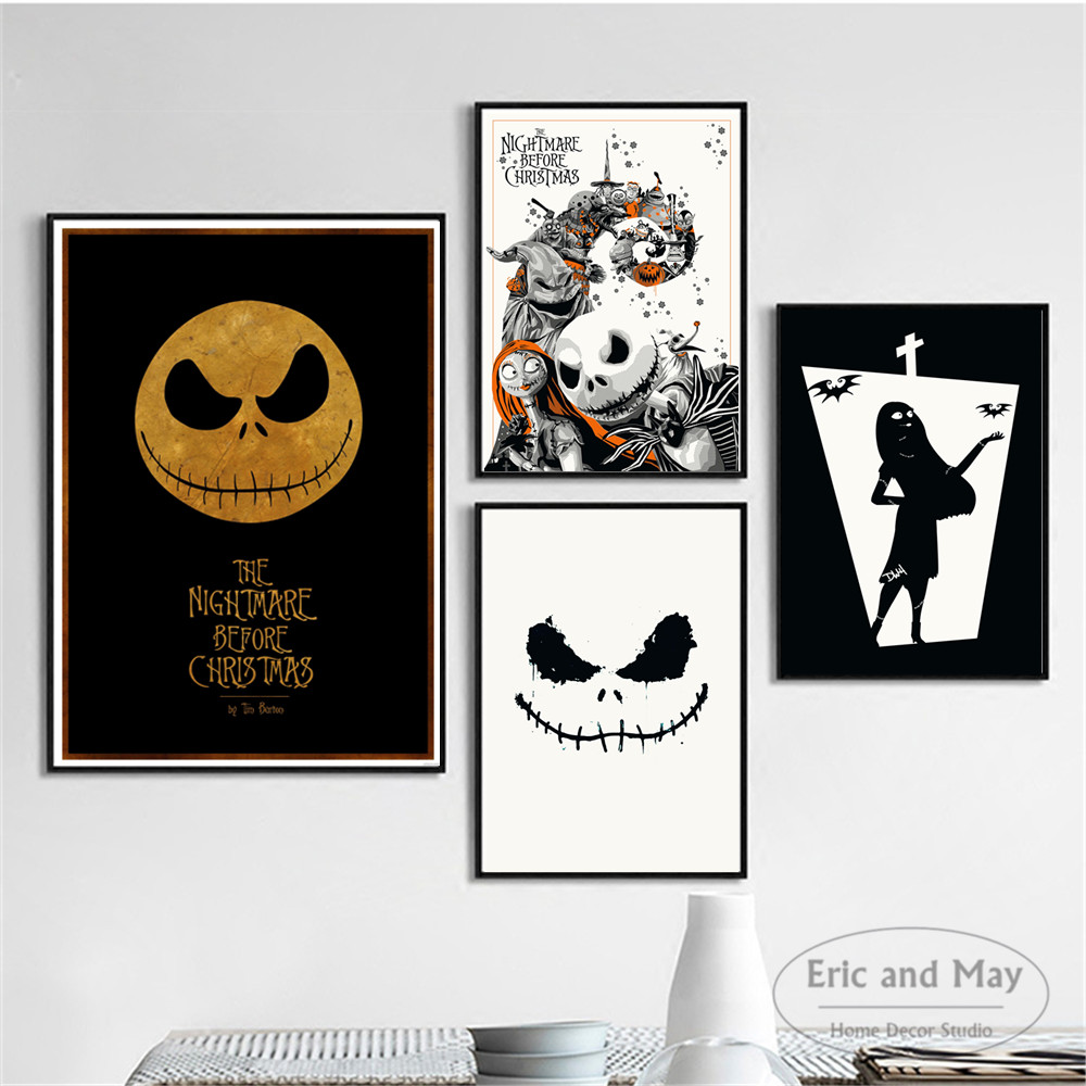 Nightmare Before Christmas Figures Posters And Prints Wall Art Canvas Painting For Living Room Decoration Home Decor Unframed