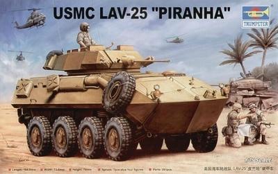 Trumpeter 00349 1 35 USMC LAV 25 plastic model kit