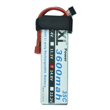 XXL polymers lithium battery 3600maH 14.8V 4s 35C max 70c for RC cars helicopter toys