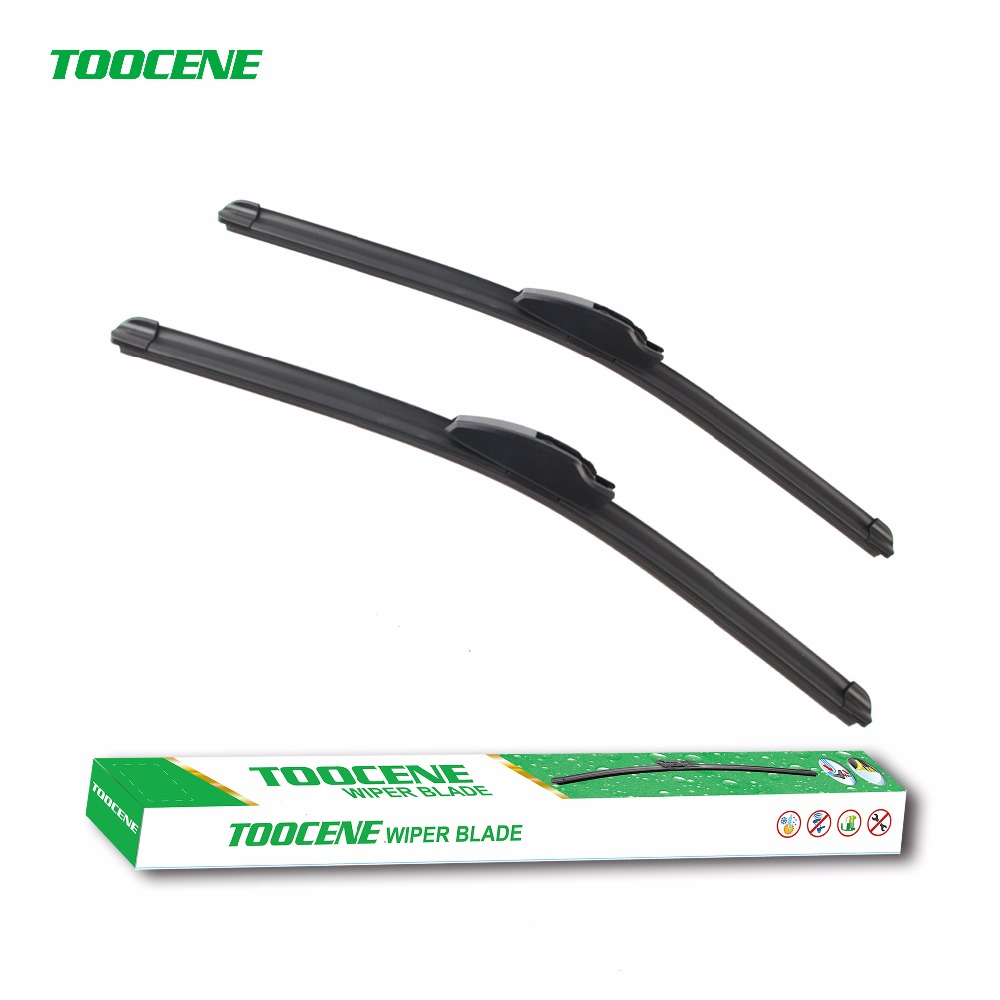 Toocene wiper blade for toyota corolla hatchback 2002 2007 size22 19 silicone rubber window