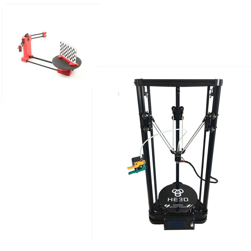 combination sale HE3D K200 delta 3d printer kit with heated bed support multi material adding 3d