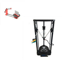 combination sale,HE3D K200 delta 3d printer kit with heated bed support multi material,adding 3d scanner
