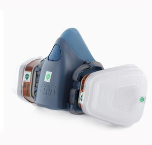 Image 3 - 3M 7502 Respirator Mask 17 in 1 Suit Industry Painting Spray Dust Gas Mask With 3M 501 5N11 6001CN Chemcial Half face Mask