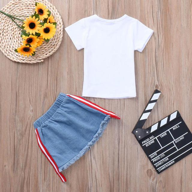 Toddler Baby Girls clothes Set Camisetas
