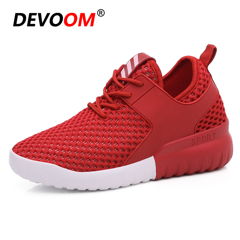 Summer Woman Skate White Shoes Womens Flats Elevator Shoe 2017 Summer Breathable Height Increasing Air Mesh
