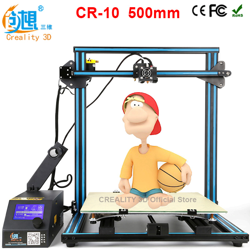 Printer CREALITY 3D CR-10 3d printer diy large size 3d printer metal Frame 3D Printing Machine Filament card Gift high precision createbot super mini 3d printer no assembly required metal frame impresora 3d 1roll filament 1gb sd card gift