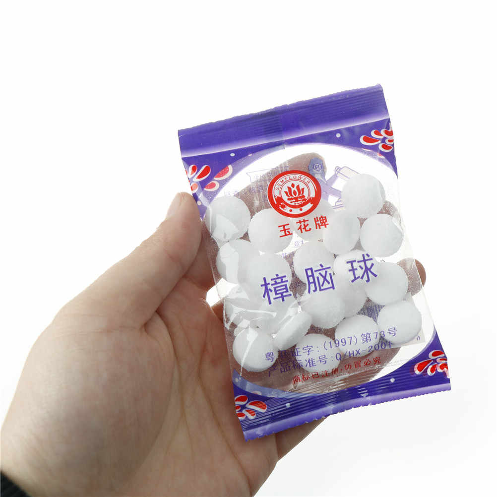 20pcs/bag mouldproof Naphthalene mothball natural camphor ball wardrobe shoe odor removal insect-resistant moth-proofing