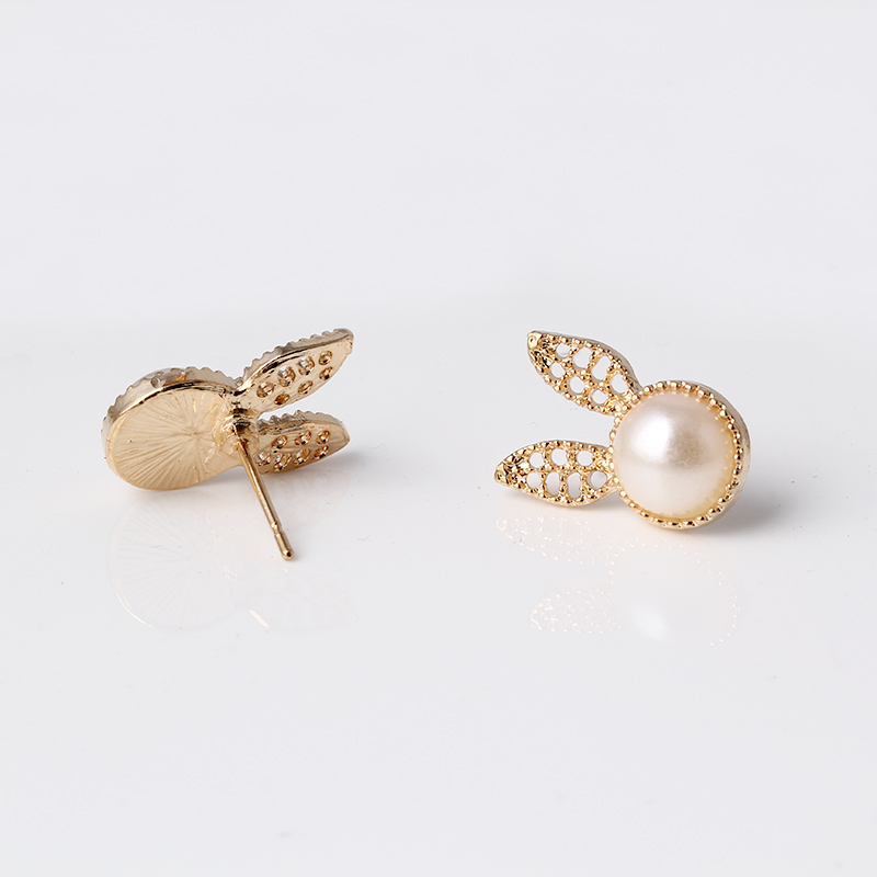 815789bf4c19 Oro color earing mujeres pequeño para las niñas aros boucle d oreille doble  conejo stud pendientes animales para las mujeres E2332 en Stud Pendientes de  ...