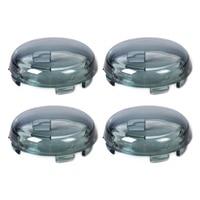 Beler 4pcs Turn Signal Light Indicator Smoke Lens Cover Fit For Harley Dyna Softail Sportster 1200