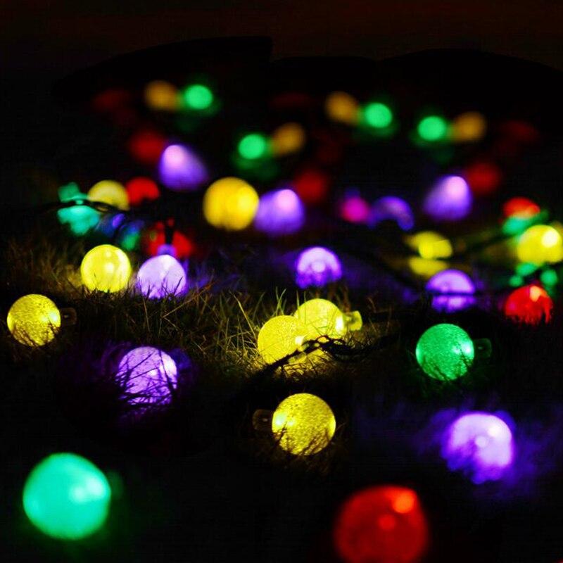 Lumières décoratives antidéflagrantes LED chaîne de boule de bulle décoration de noël LED imperméable extérieure allume des lumières de lanterne